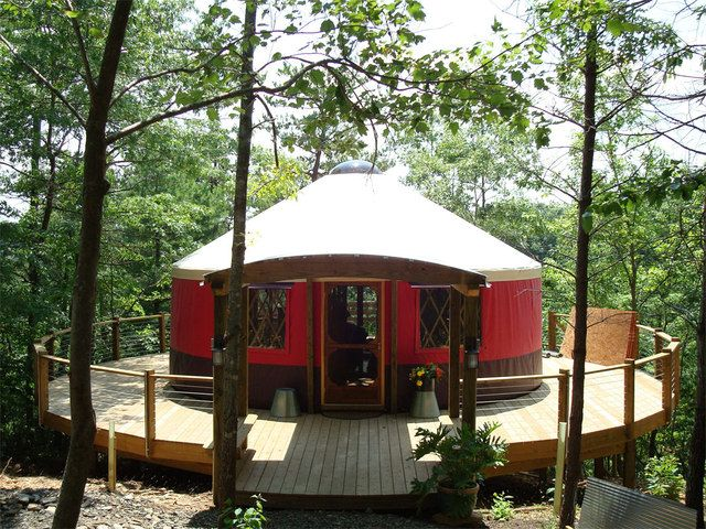 Love to live in a yurt...ok two...one for my pottery studio!