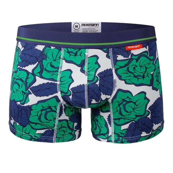 blue and green floral trunk