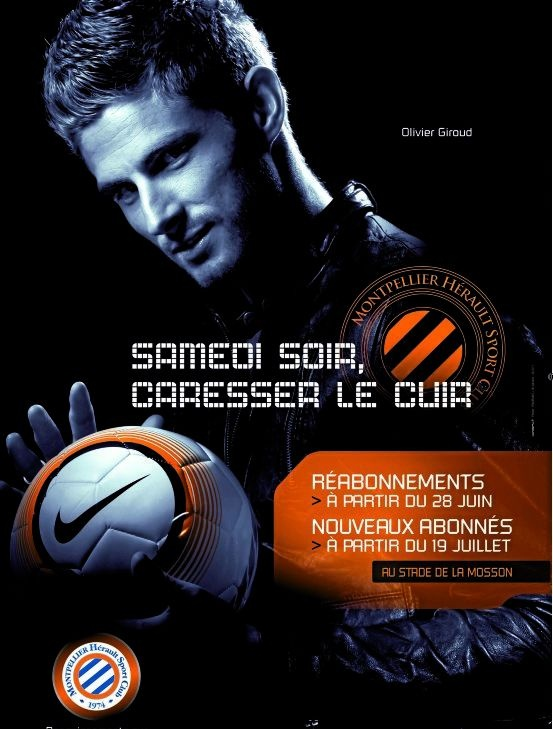 """Samedi soir, caresser le cuir"" #MHSC 2012 #OlivierGiroud"