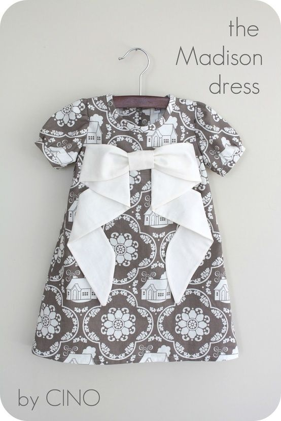 Baby Dress ...ONE Day - When I Magically Find Time, I'm Going to Refresh my Sewing Skills & Make This <3