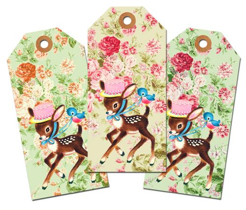 Cute Spring tags.  This site has great vintage clip art.