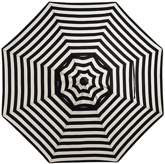Black And White Striped Umbrella Homedecorators Com