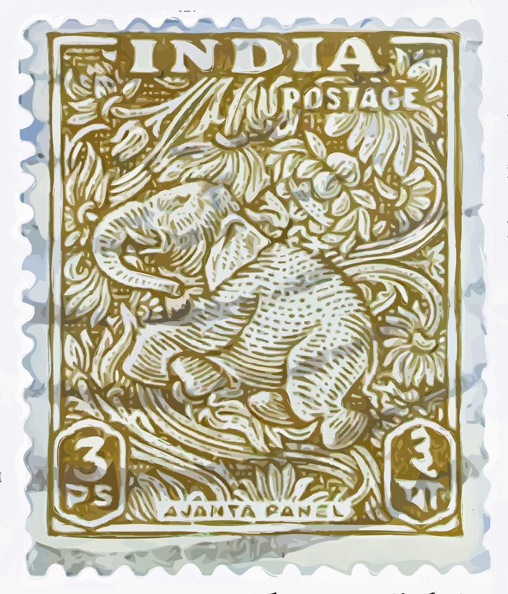 graphics: Prints Stamps, India Elephant, Block Prints, Elephant Postage Stamps, India Stamps, Art, Indian Postage, Health Guide, Stamps Collection