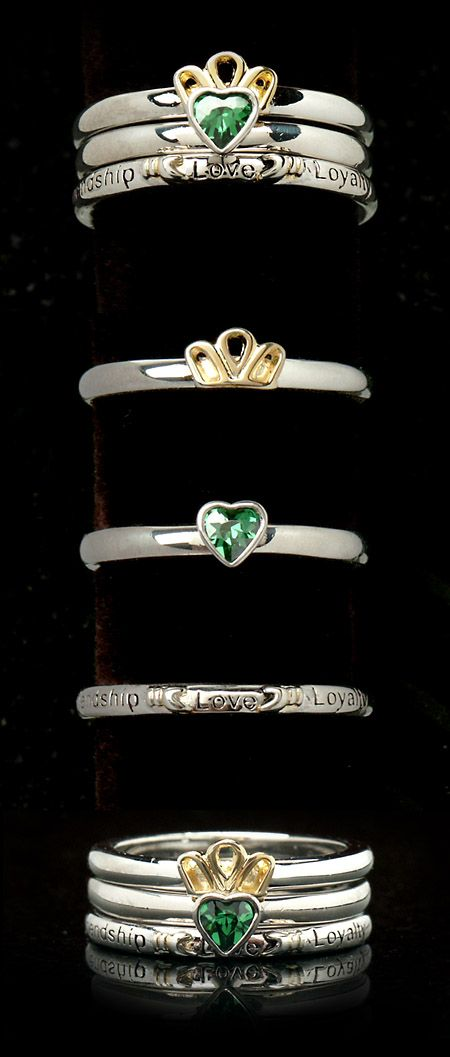 Taras Diary Claddagh Stacking Rings
