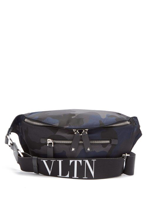 3c9aa85ffbe41 VALENTINO Camouflage-print belt bag.  valentino  bags  leather  belt bags