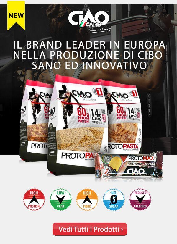 ➡ NUOVO MARCHIO ⬅  Ciao Carb, il marchio italiano leader in Europa nella produzione di cibo innovativo e salutare, ora disponibile su Muscle Nutrition! Info Prodotti:http://goo.gl/JgTRku
