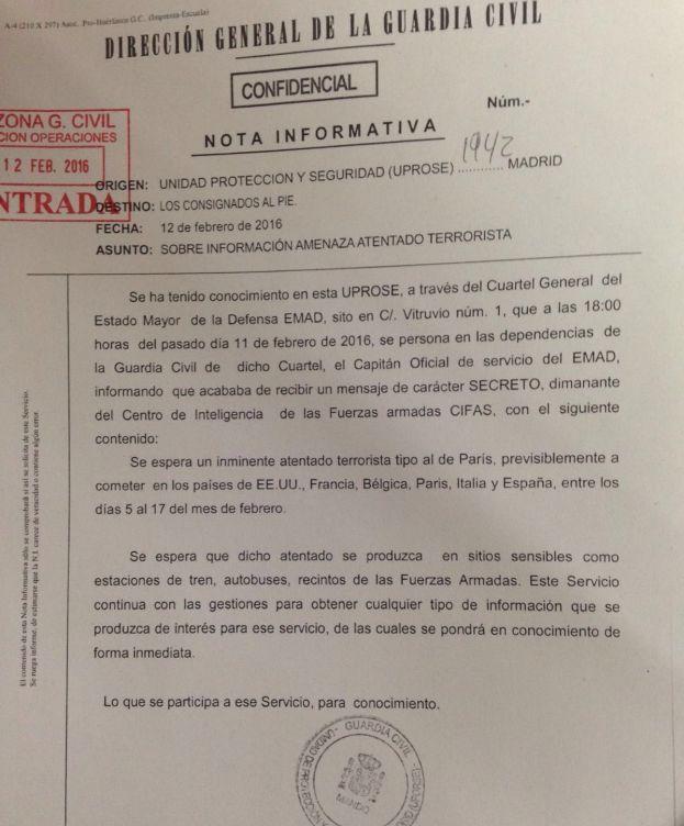 Inteligencia militar alerta de un posible atentado en España similar al de París - TVEstudio