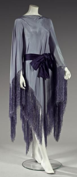 Madeleine Vionnet (French, Chilleurs-aux-Bois 1876–1975 Paris) Dress shawl fringed crepe, circa 1921
