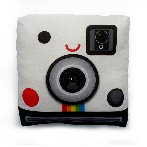 Soooo cute I have to buy it! Mini Pillow  Polaroid Camera by mymimi on Etsy $18