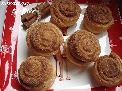 cafe de hera: Tarçınlı Şekerli Çörekler