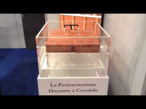 CottoBloc DRENANTE, il mattone per la pavimentazione permeabile e carrabile - YouTube