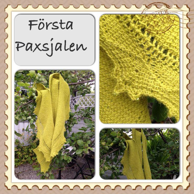 Tunisian crochet shawl PAX  Alpaka yarn