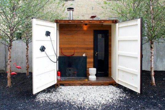 Self-Sufficient Shipping Container Sauna Box Will Get You Hot & Steamy | Inhabitat - Sustainable Design Innovation, Eco Architecture, Green Building