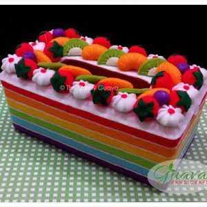 Tissue box Rainbow Cake 09 | Makanan flanel, Kotak, Kreatif