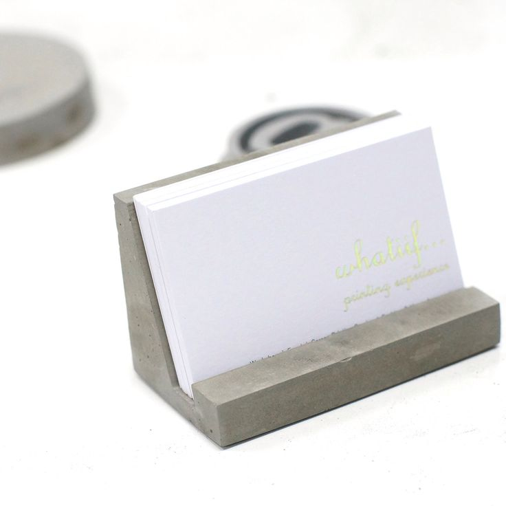 concrete business card holder, concrete stationary, industrial style office stationary, modern office decoration, home office by concretelabhk on Etsy https://www.etsy.com/listing/248301857/concrete-business-card-holder-concrete