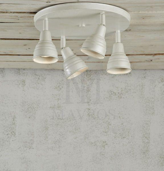 ΜΑΥΡΟΣ -- Rustic ceiling spotlight | IOS