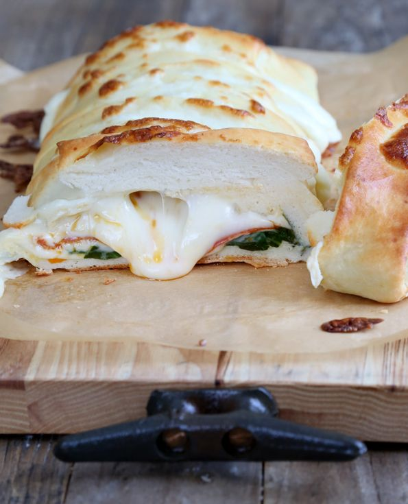 Braided Stuffed Spinach and Pepperoni Gluten Free Pizza - Gluten Free on a Shoestring