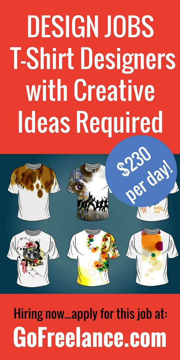 We have a current need to find great freelance T-shirt designers to work on creating innovative T-shirt designs and merchandising products.
