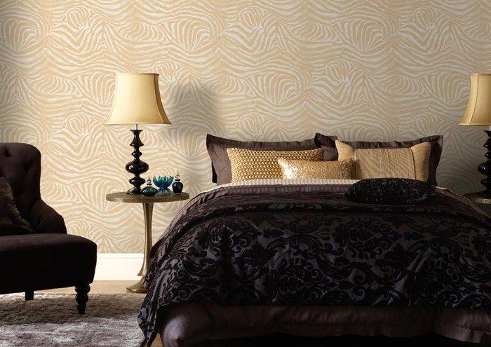 17 beste idee n over goud behang op pinterest gouden patroon gouden achtergrond en behang - Wallpaper volwassen kamer trendy ...