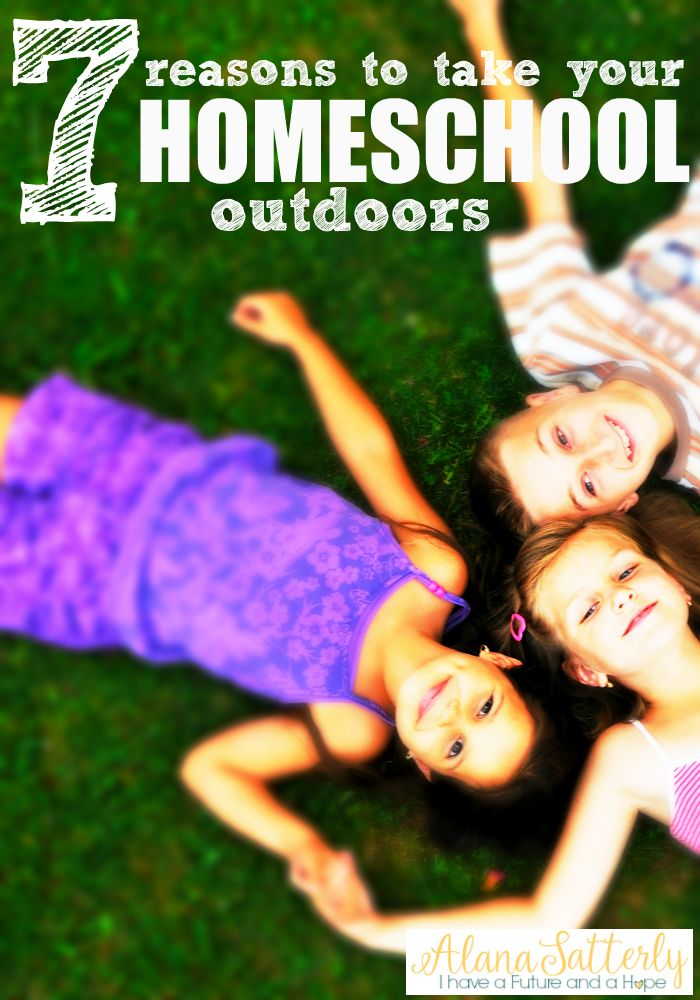 7 benefits of homeschooling outdoors. Take your homeschool on an adventure! Go outdoors and move, exercise, and more.
