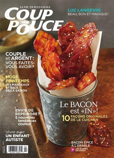 Couverture du numéro d'avril. #bacon #autisme #manteaux #couple #argent