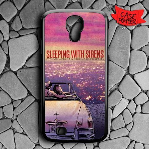 Sleeping With Sirens Purple Sky Car Samsung Galaxy S4 Black Case