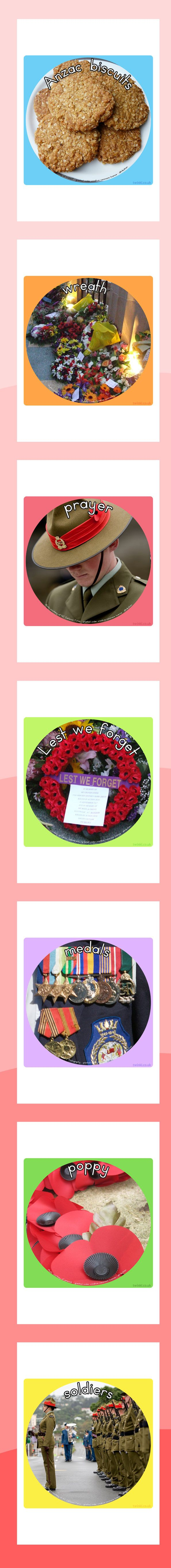 Anzac day display photo cut outs