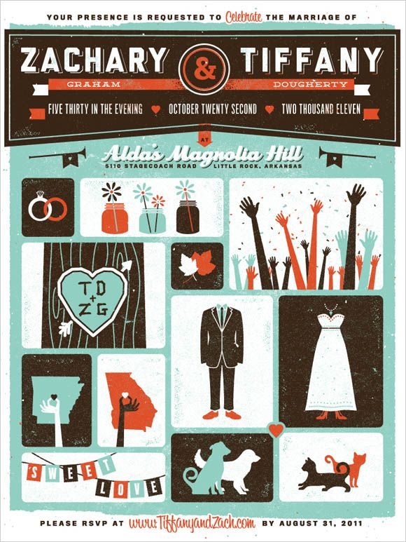 45 Awesome Wedding Invitation Designs, Lots Of Different Themes. May Not  Have THE Perfect One But A Good Way To Get Ideas!