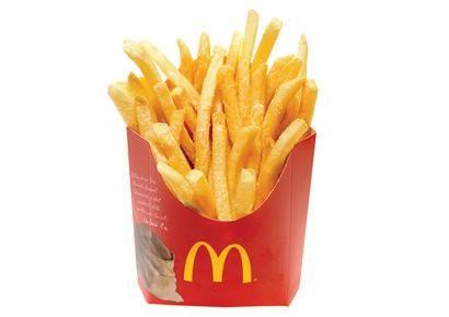 400-Calorie Restaurant Meals - Prevention.com McDonald's small fry-230 cal; add a 4 piece chicken nugget for 400 cal.