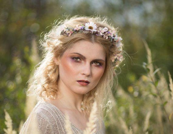 Floral halben Kranz Blume Krone Kopf Kranz Stirnband Fee Haar