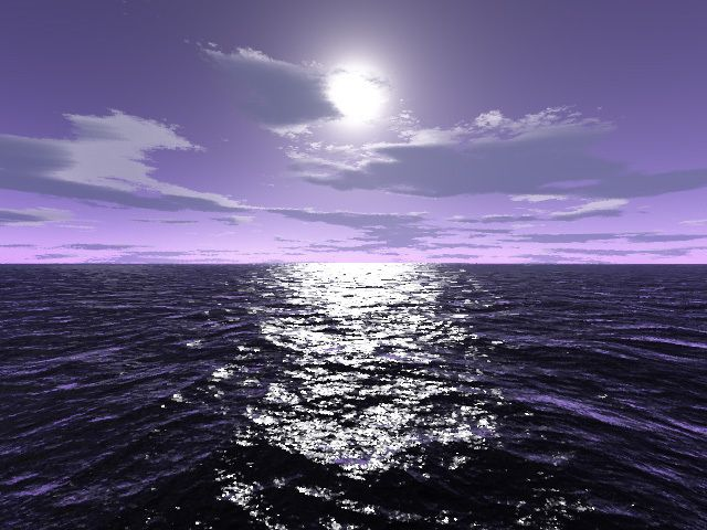The Moon - add the purple skyline the shimmer of the water...ahh complete serenity :)
