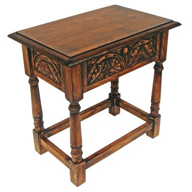 Yorkshire Hinged Lid Gothic Stool and Accent Table