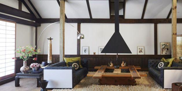 Living Room Idea With Sisal Carpet From Stark 和室 古民家