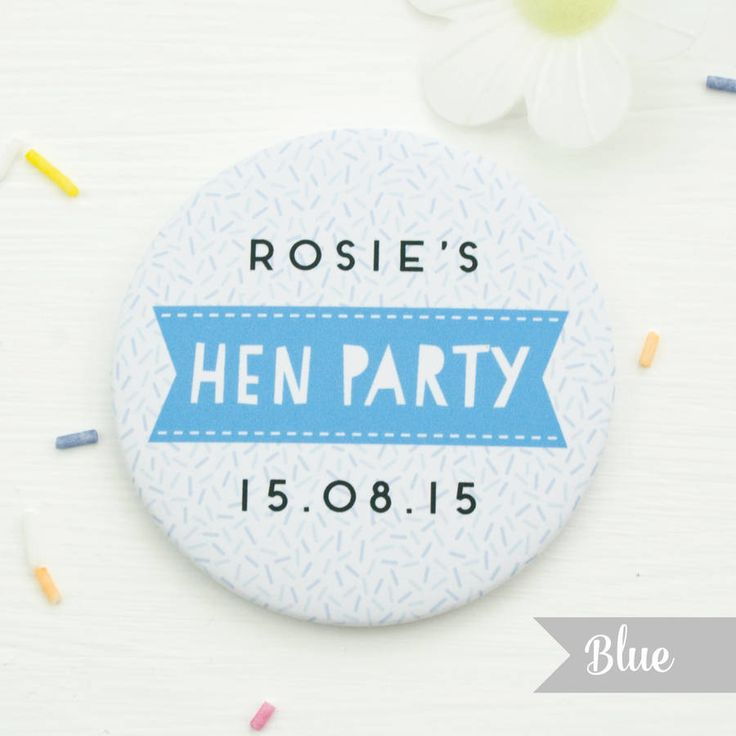Blue Hen Party Badge