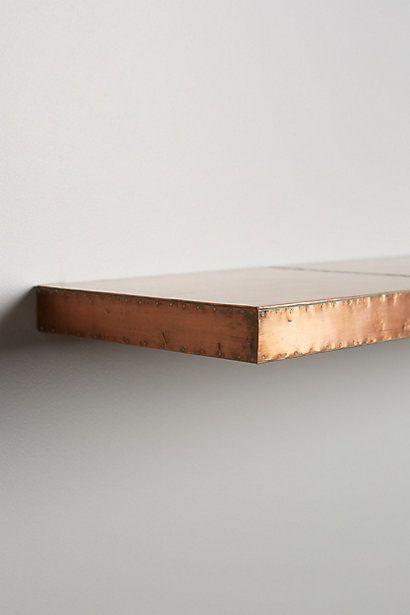 copper shelf trim - Google Search