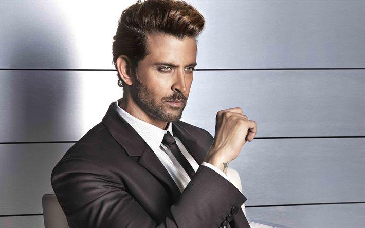 Download wallpapers Hrithik Roshan, 4k, Indian actor, portrait, handsome man, Bollywood