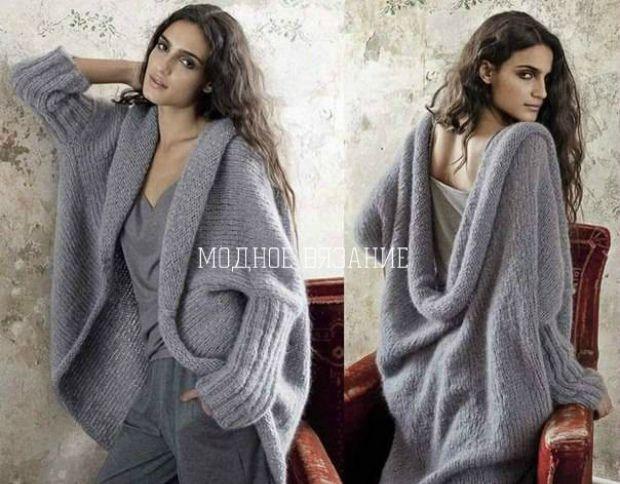 Жакет свободного кроя с журнала *Filatti* -  Модное вязание