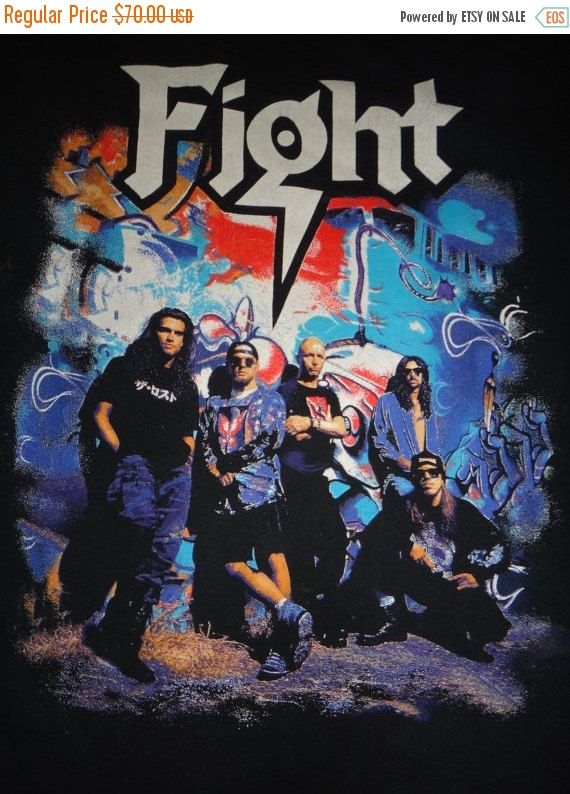 Vintage Fight 1990s T Shirt Heavy Trash Metal by TwistedFabrics