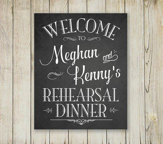 Rehearsal Dinner Sign Welcome Chalkboard Printable