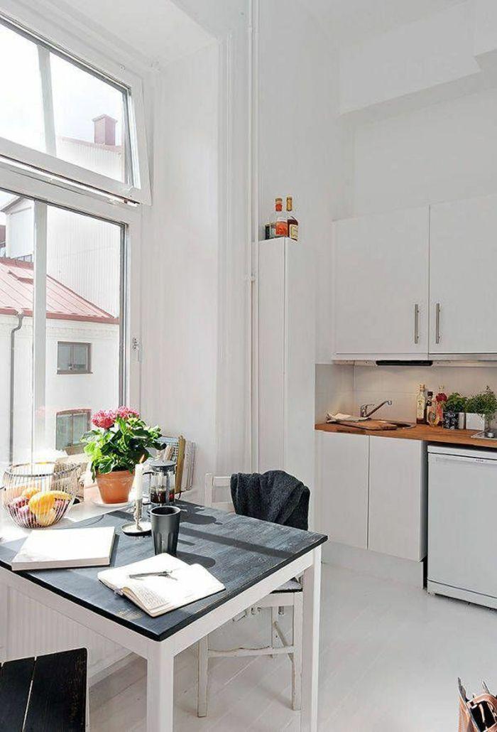 Les Meilleures Idées De La Catégorie Table Carrée Blanche Sur - Table carree blanche avec rallonge pour idees de deco de cuisine