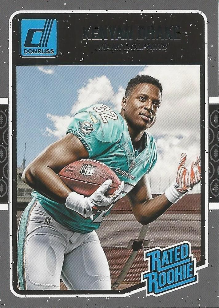 Kenyan Drake 2016 Donruss #381 *ROOKIE CARD* Miami Dolphins Alabama Crimson Tide