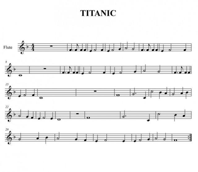 Titanic Partitura Para Flauta Dulce Partituras Flauta Flauta Dulce Notas