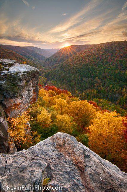Fall Mountain Scenery Wallpaper Amazing Sunrise Lindy Point Sunset Blackwater Falls