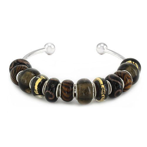 "Coastal Creations Beads ""African Safari"" on Silver Plated Bangle Pacific Beads. $39.95"