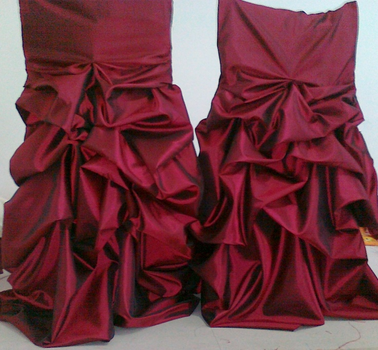 Huse scaune cu falduri confectionate din tafta diverse culori - pentru evenimente deosebite din viata ta