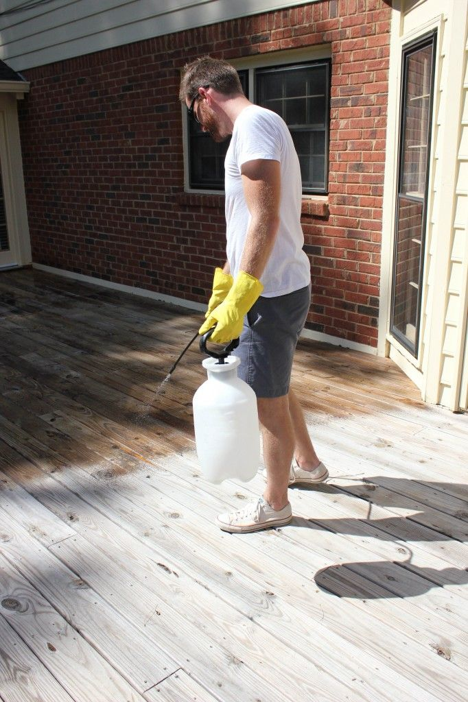 How to stain a deck via DIY on the Cheap