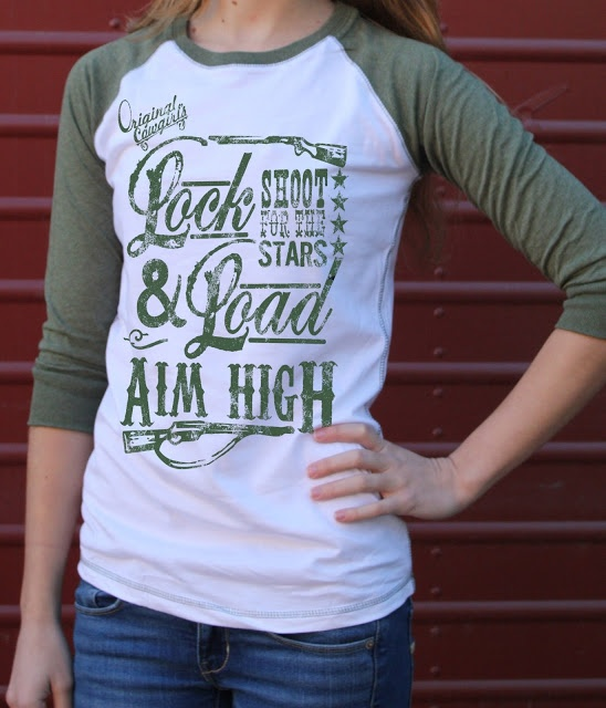 Lock and Load Baseball Tee by Original Cowgirl Clothing Co.