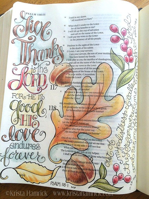ps 118,1 - Give Thanks