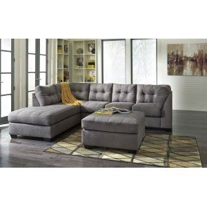 45200S1 Maier - Charcoal 2 Piece Sectional by Ashley Furniture | Behar's Furniture in Everett, WA