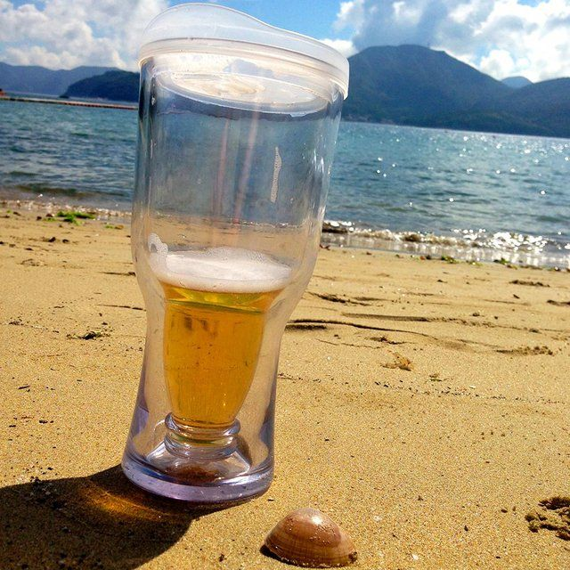 Beach Necessity Part 2.  Brew2Go Non-Spill Portable Beer Glass